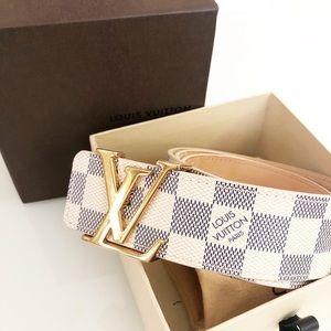 Louis Vuitton Damier Azur Canvas Initials Belt